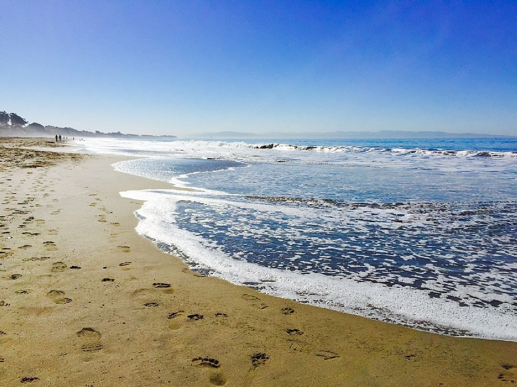Rio Del Mar Beach Footprints