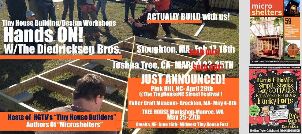 Relaxshacks' Tiny House Building & Design Workshop - Joshua Tree @ Joshua Tree